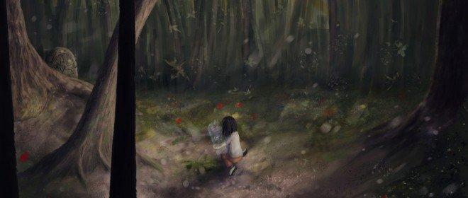 in woodland рисунок Евгения Комиссарова