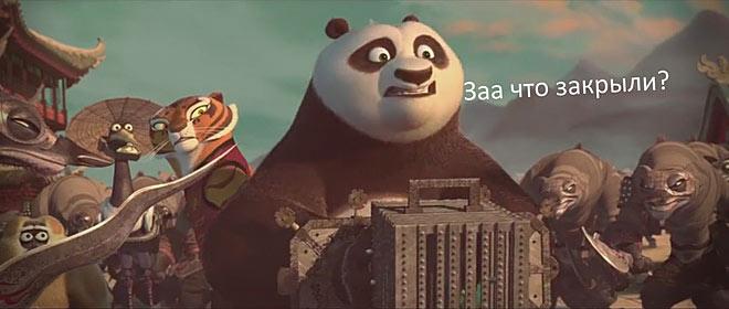 панда в шоке