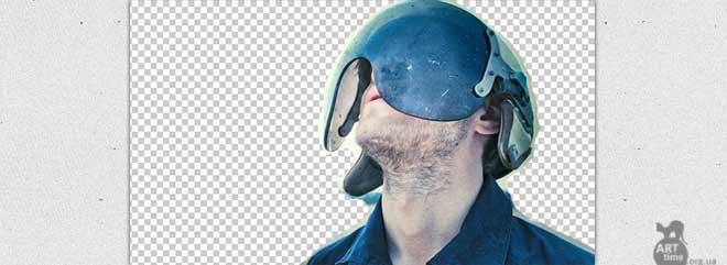 затираем фон при помощи маски слоя