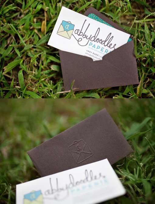 визитка Abbydoodles Paperie