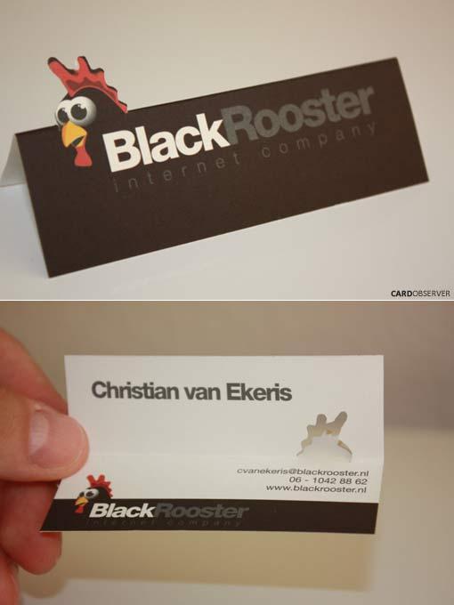 визитка Черный Петух