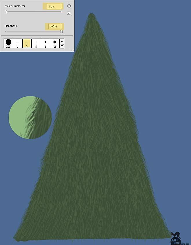 рисуем елку в фотошопе
