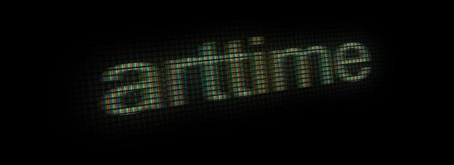 Эффект свотографированного текста на экране