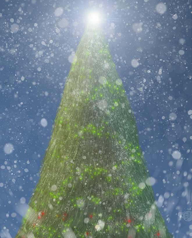 елка в фотошопе