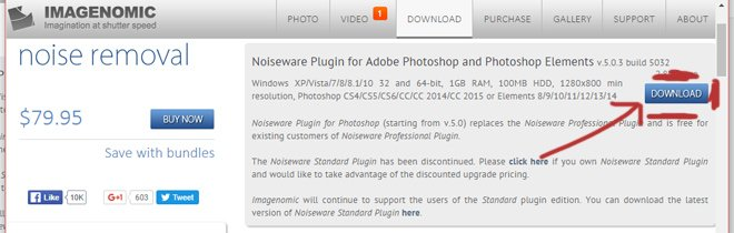 Скачать Noiseware Plugin for Adobe Photoshop