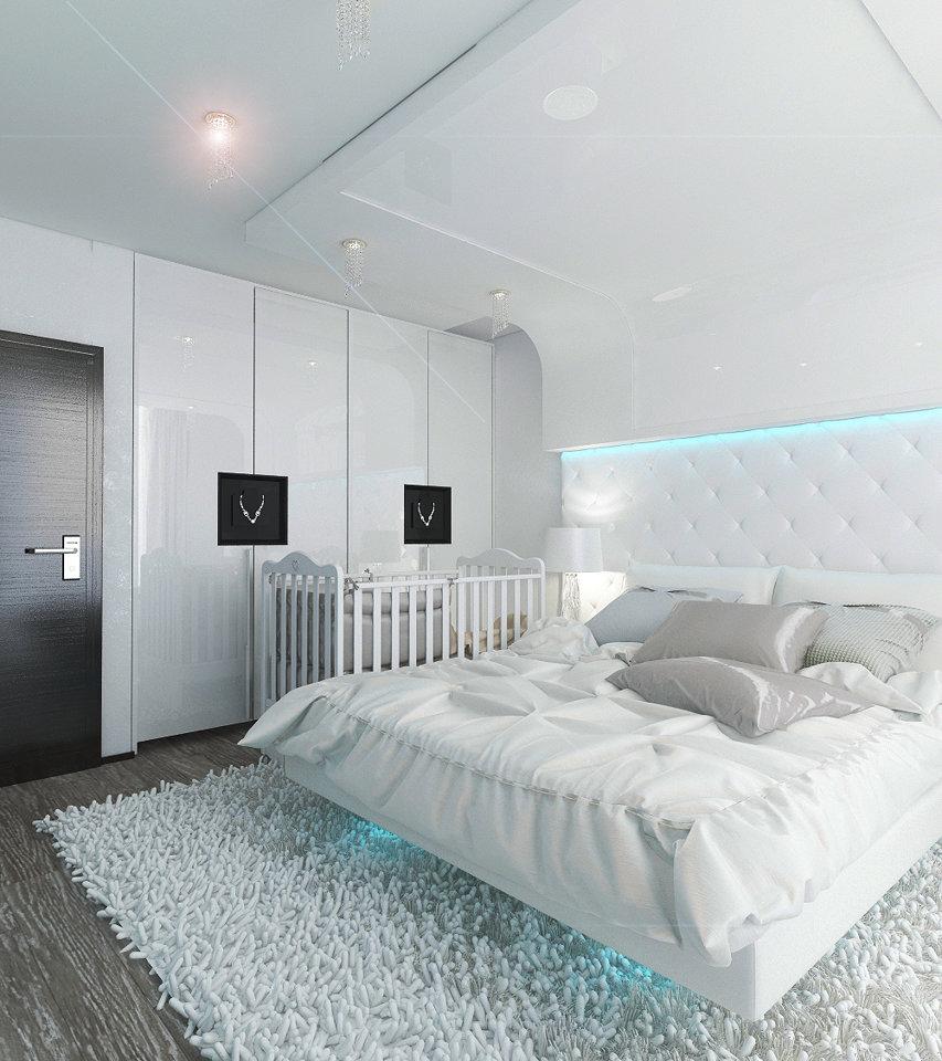 выполненный дизайн спальни