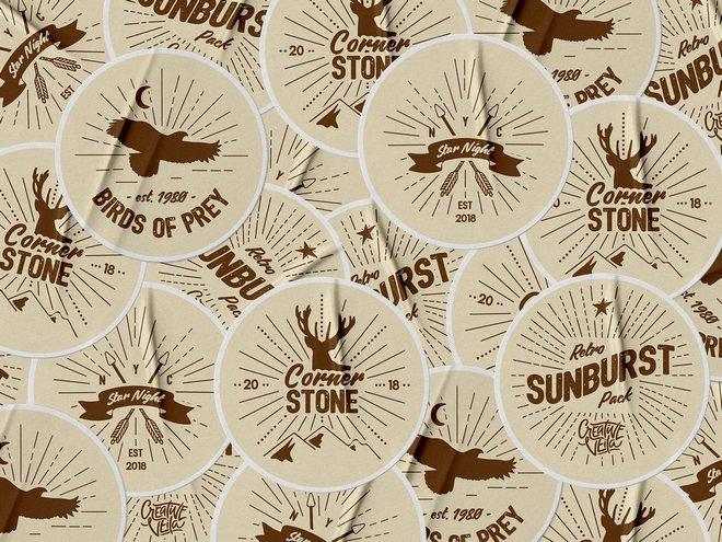 Векторный набор Sunburst