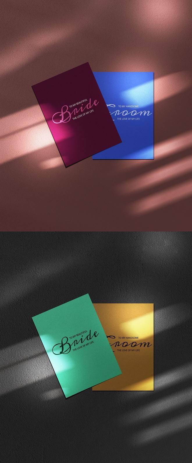 Бесплатный PSD макет открытки