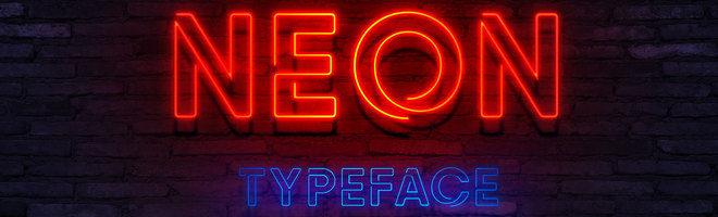 Яркий шрифт Neon