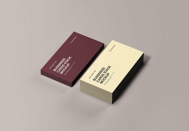 Макет стека визитных карточек