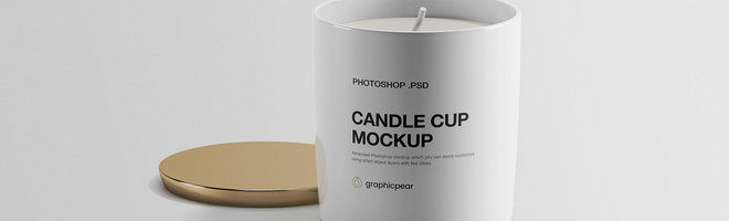 Макет чашки со свечой