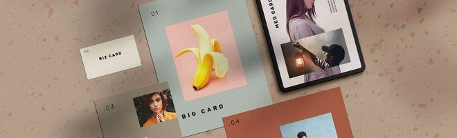 Макет канцелярских карточек