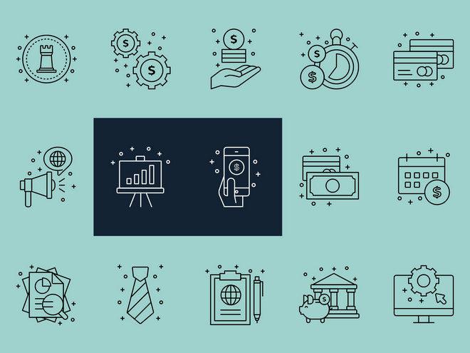 Корпоративные векторные иконки