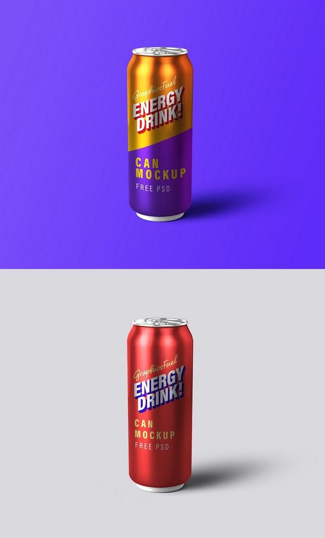 Макет энергетического напитка