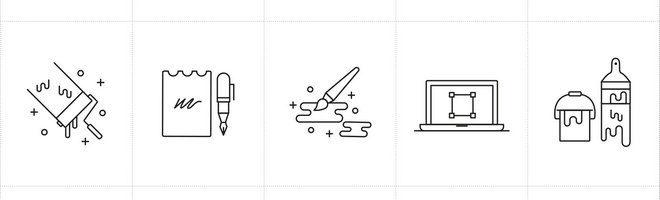 Значки дизайнерских инструментов