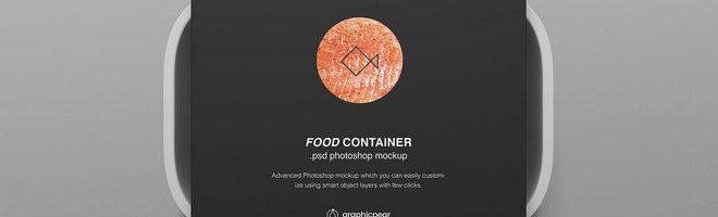 Макет контейнера для пищевых продуктов