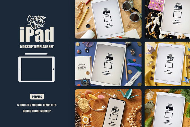 Бесплатный набор макетов iPad
