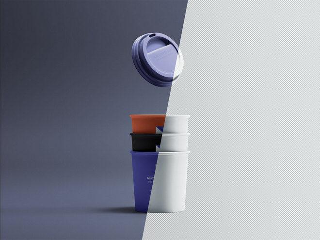 Макет миниатюрных кофейных чашек