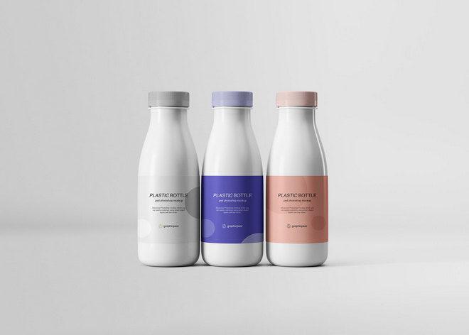 Макет пластиковых бутылок