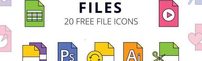 Векторный набор иконок Files