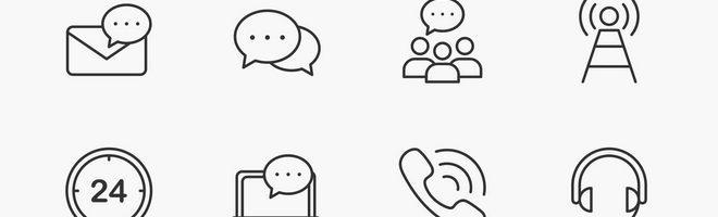 Векторные иконки коммуникации