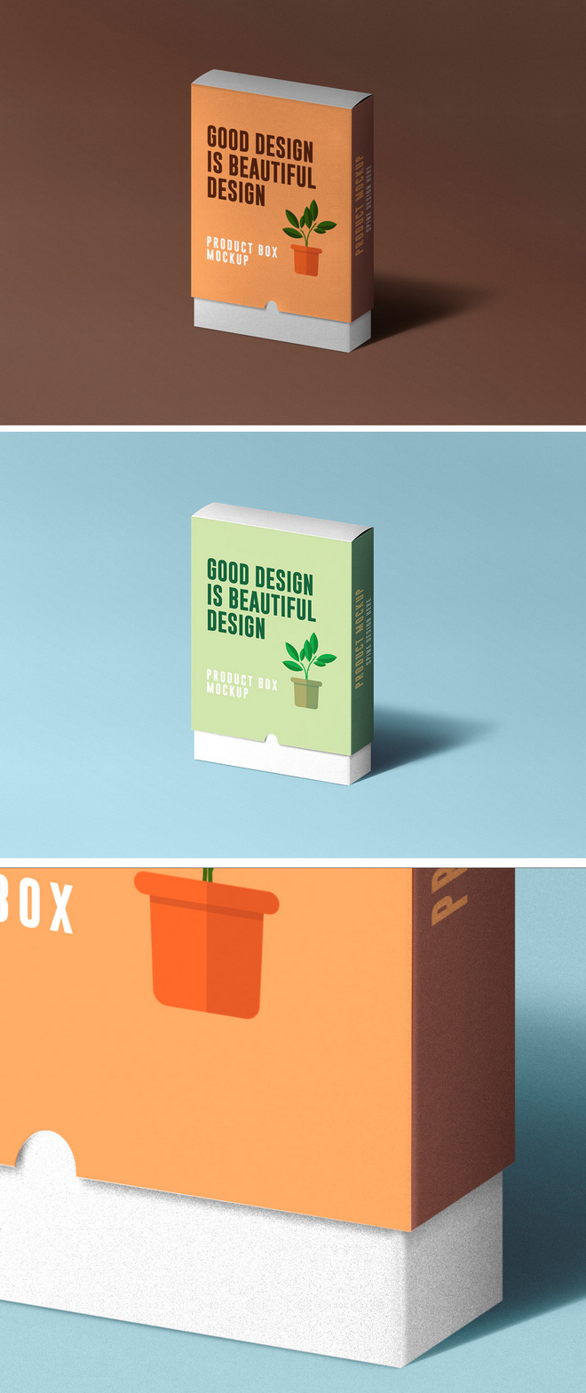 Макет коробки продукта