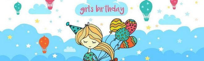 Векторные иллюстрации дня рождения девушки