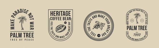 Векторные значки кофе и пальмы
