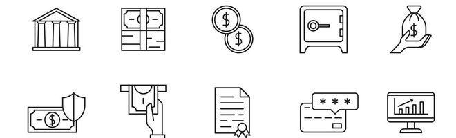 20 банковских векторных иконок