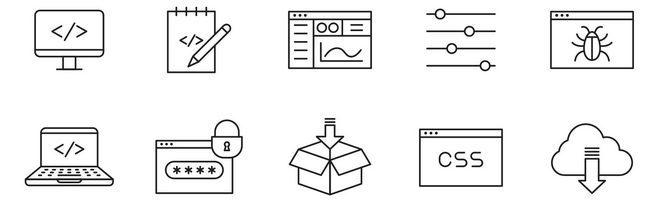20 векторных иконок кодирования