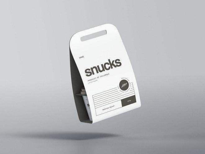 Макет упаковки с чашкой кофе