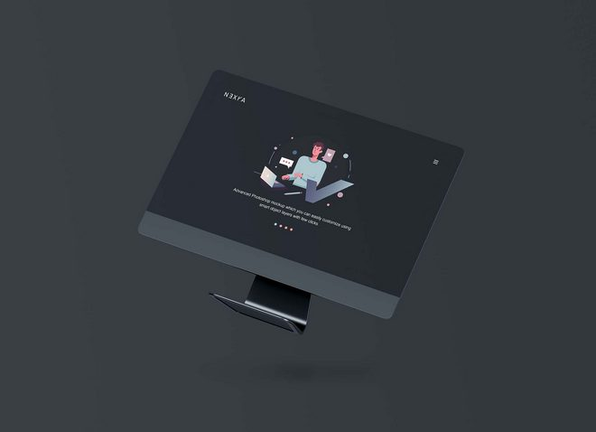 Макет экрана компьютера