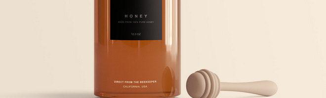 Макет банки с медом