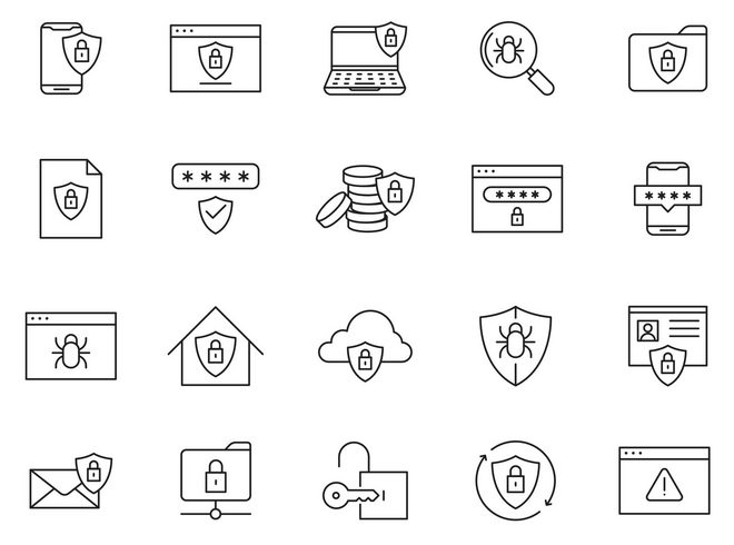 20 векторных иконок безопасности