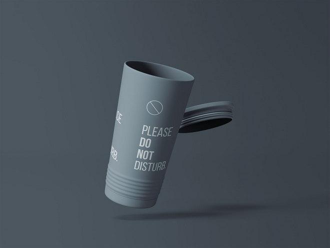 Макет пластикового стакана