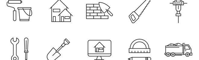 80 векторных иконок на тему строительства