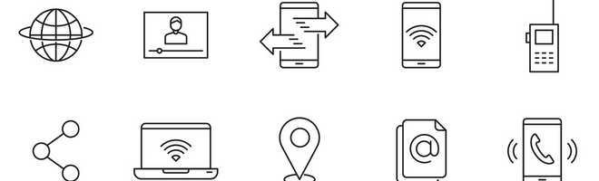 80 коммуникационных векторных иконок