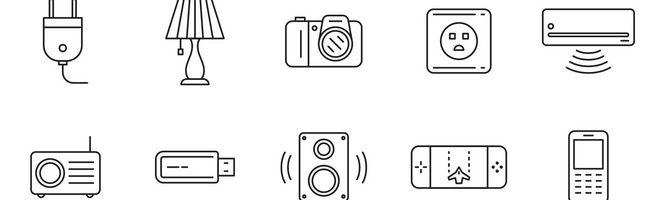 80 векторных иконок электроники