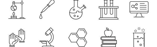 20 лабораторных векторных иконок
