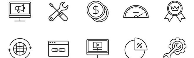 20 векторных иконок SEO-тематики