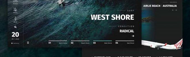 GoSurf: шаблон сайта для серфинга и путешествий