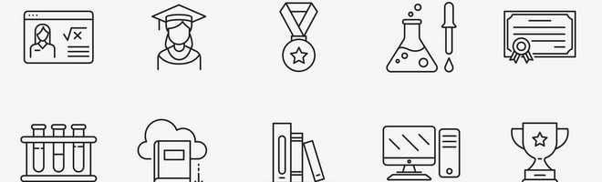 Векторные иконки на тему обучения