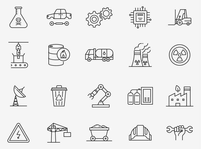Векторные иконки промышленной тематики
