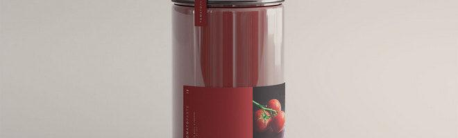 Мокап томатной банки
