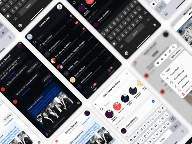 Набор пользовательского интерфейса мобильного чата