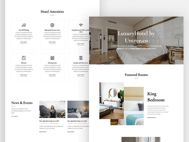 Роскошный отель: HTML-шаблон